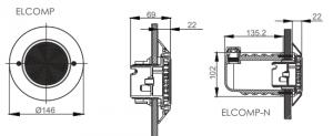شماتیک چراغ ایماکس مدل ELCOMP-N-CW